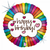 Retro Rainbow Birthday Foil Balloon