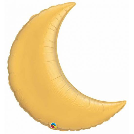 Gold Crescent Moon Foil Balloon Shape