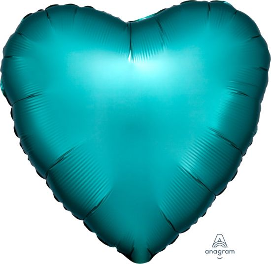 Satin Luxe Jade Heart Shape Foil Balloon