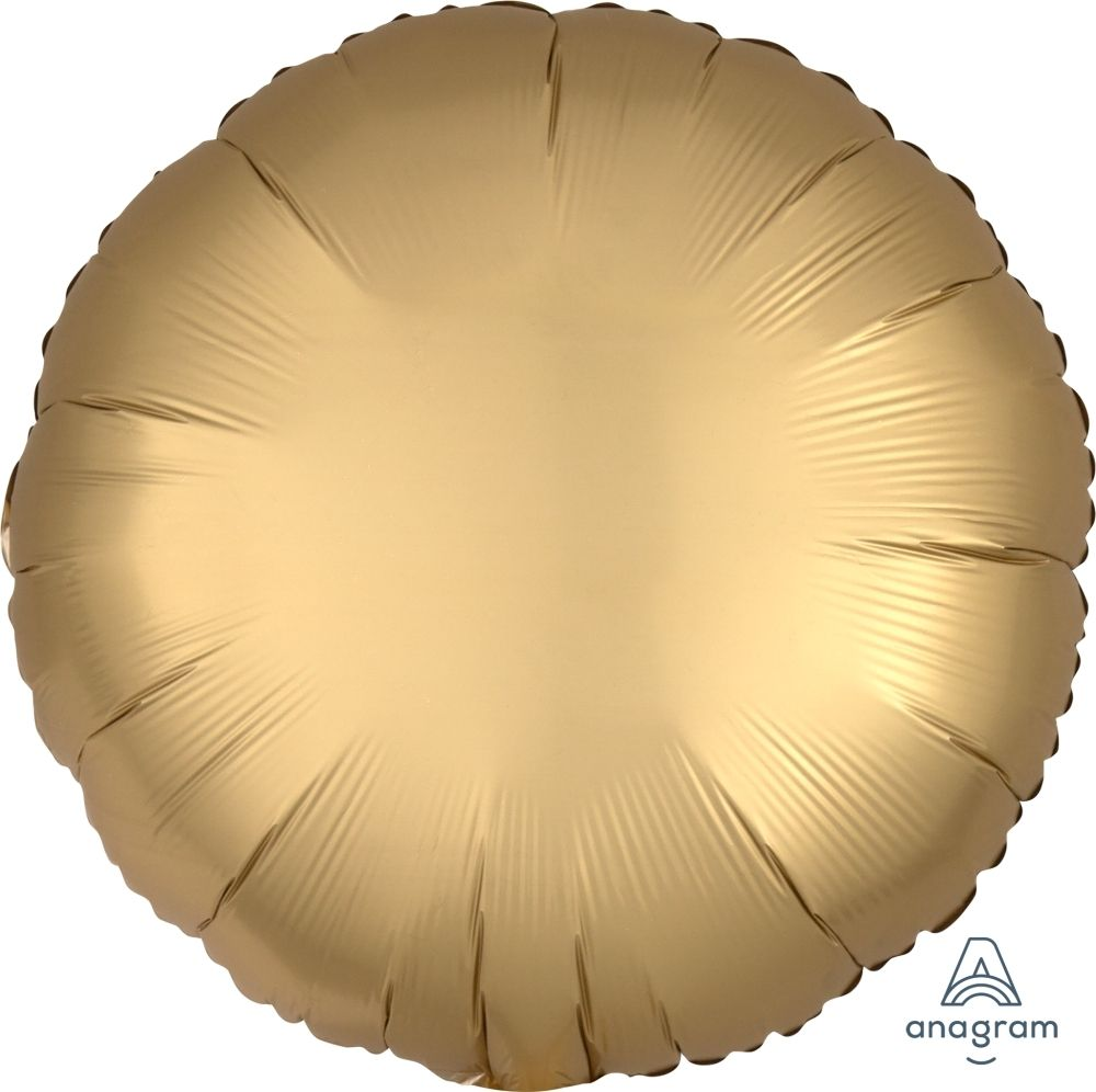Satin Luxe Gold Sateen Round Foil Balloon