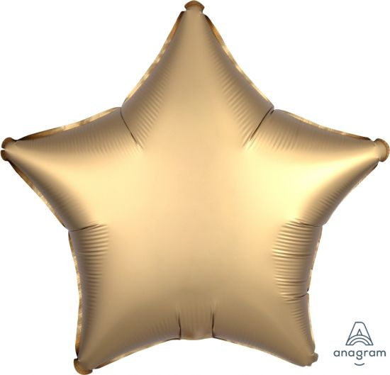 Satin Luxe Gold Sateen Star Foil Balloon