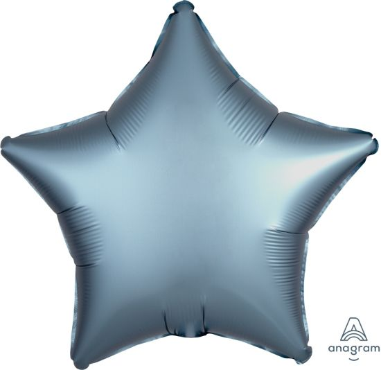 Satin Luxe Steel Blue Star Foil Balloon