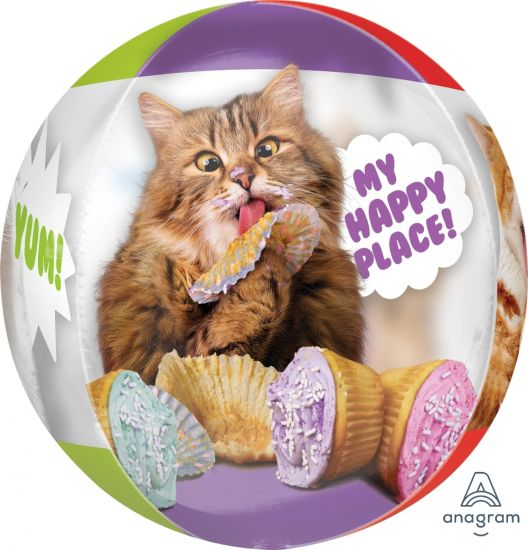 Avanti Cats Birthday Orbz Foil Balloon
