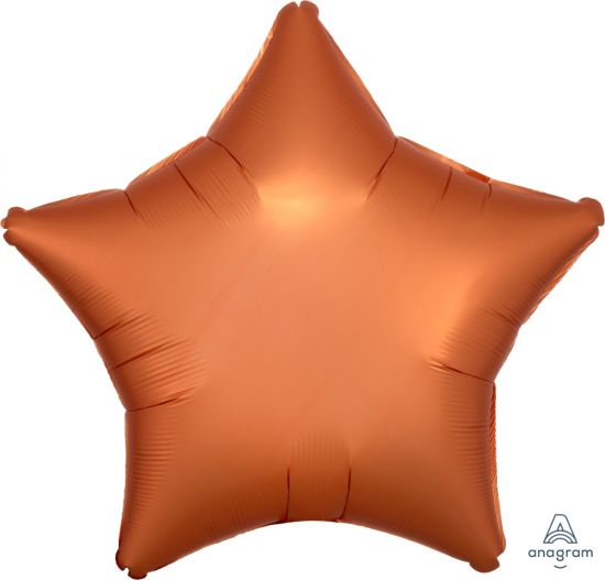 Satin Luxe Amber Star Foil Balloon