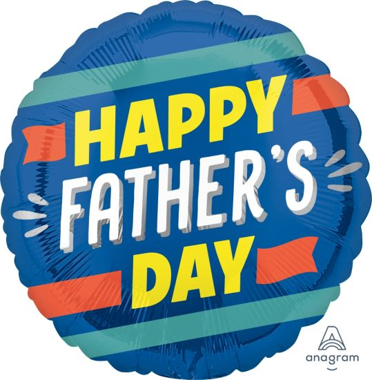 Happy Father's Day Stripes Foil Balloon