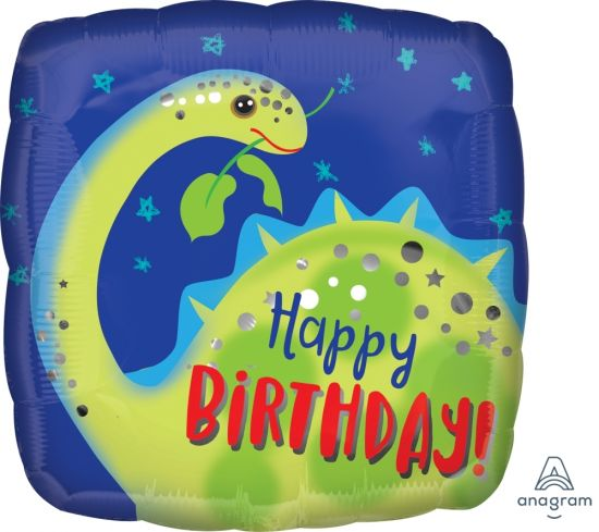 Happy Birthday Brontosaurus Foil Balloon
