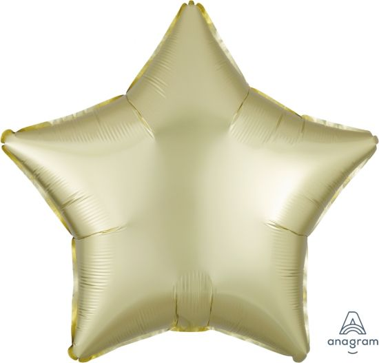 Satin Luxe Pastel Yellow Star Foil Balloon