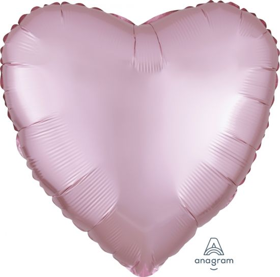 Satin Luxe Pink Heart Shape Foil Balloon