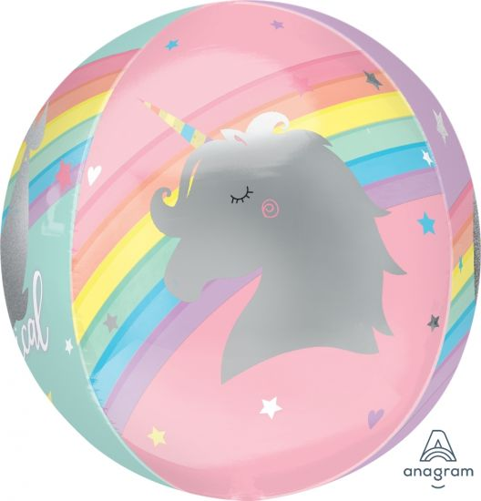 Magical Unicorn Foil Orbz Balloon