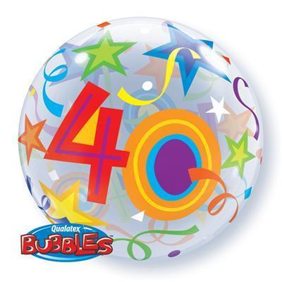 40' Brilliant Stars Bubble Balloon Various