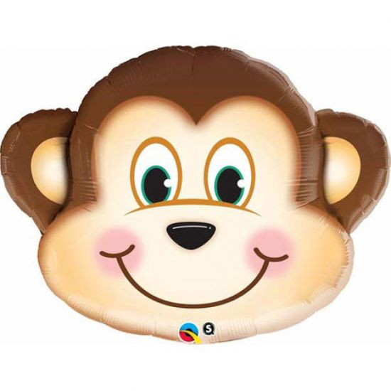 Cute Monkey Face Foil Balloon Shape