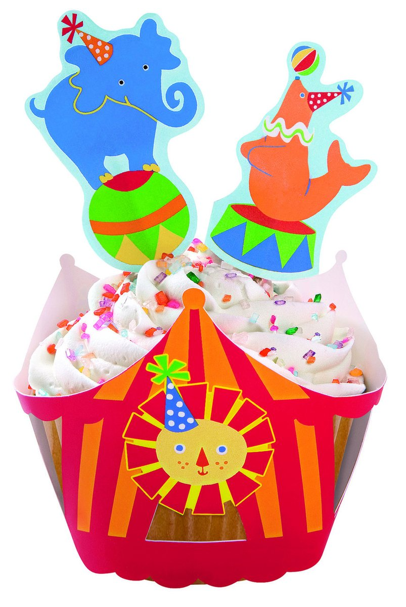 Big Top Cupcake Wraps & Toppers