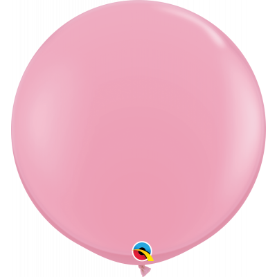 90cm Round Pink Latex Balloon