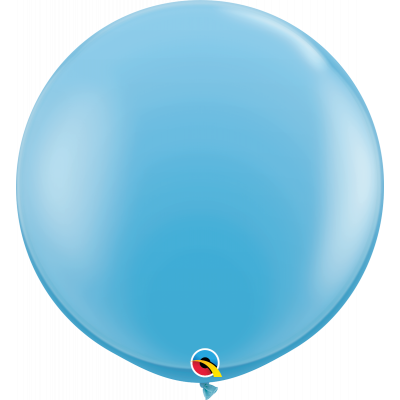 90cm Round Pale Blue Latex Balloon