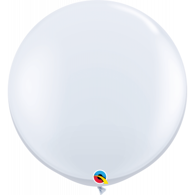 90cm Round White Latex Balloon