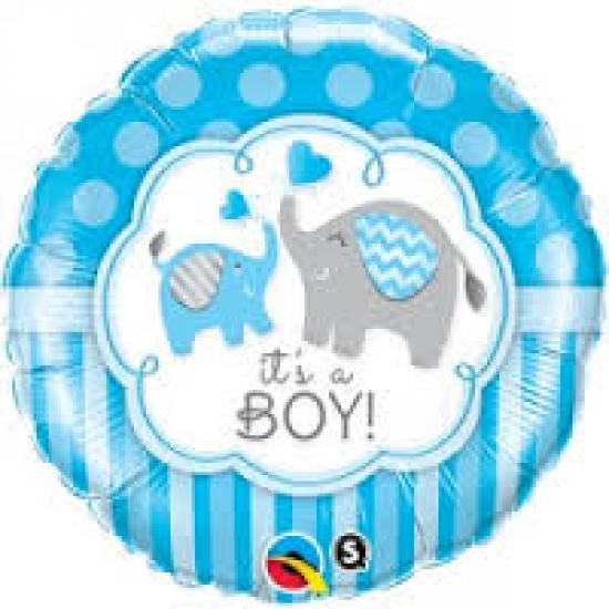 It's A Boy Elephants Foil Balloon