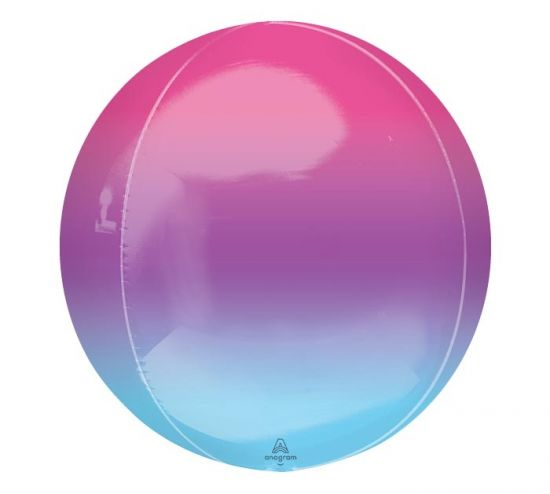 Purple & Blue Ombre Orbz Foil Balloon