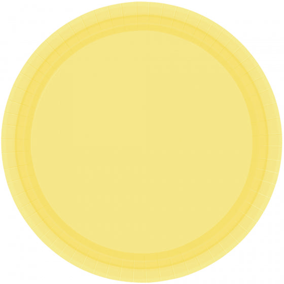 Yellow Sunshine Paper Dinner Plates
