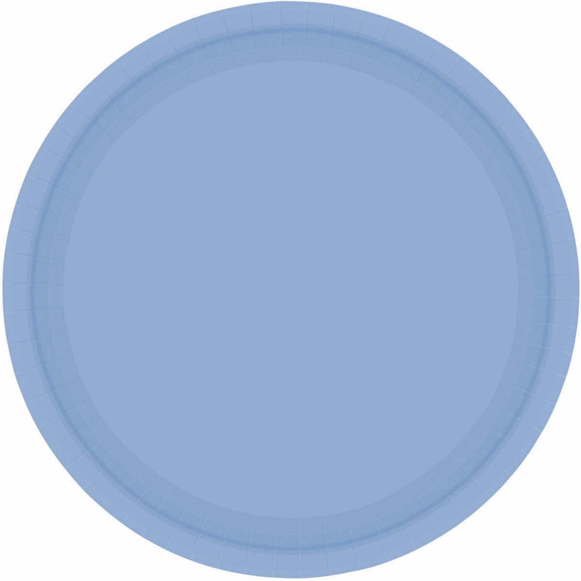 Pastel Blue Paper Lunch Plates
