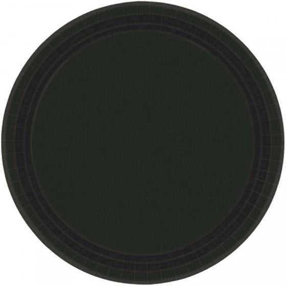 Jet Black Paper Lunch Plates