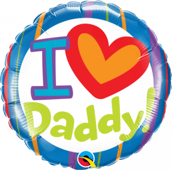 I Heart You Daddy Foil Balloon