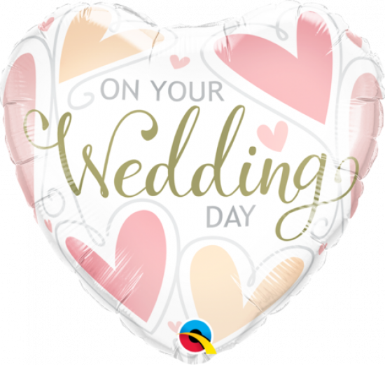 On Your Wedding Day Heart Foil Balloon
