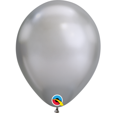 qualatex chrome silver latex balloon