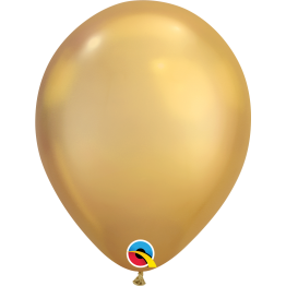 Qualatex Chrome Gold Latex Balloon