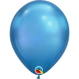 Qualatex Chrome Blue Latex Balloon
