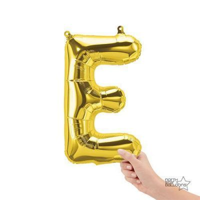 Gold Junior Letter E Foil Balloon