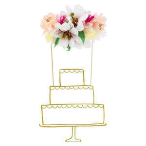 Paper Flower Bouquet Cake Topper