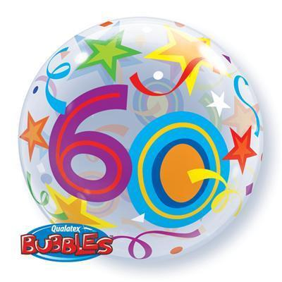 60' Brilliant Stars Bubble Balloon Qualatex