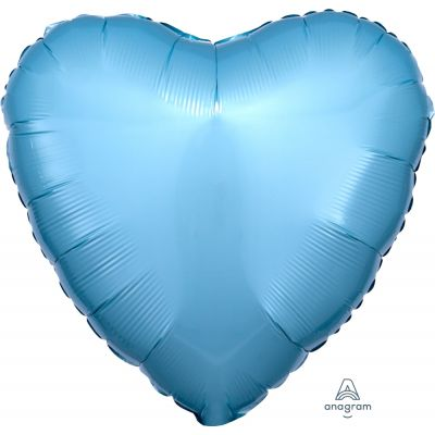 Pastel Blue Heart Shape Foil Balloon