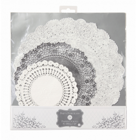 silver doilies