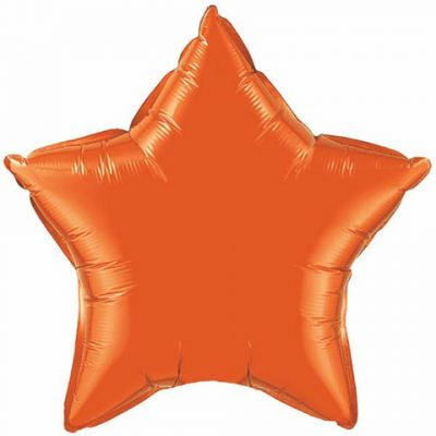 Orange Star Shape Foil Balloon