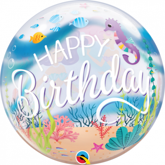 Mermaid Birthday Party Plastic Bubble Balloon