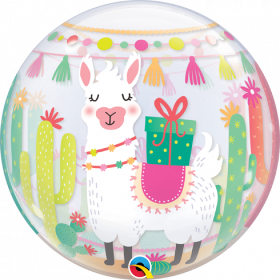 Llama Birthday Party Plastic Bubble Balloon