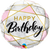 Happy Birthday Marble Rectangles Foil Balloon