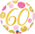 60 Pink & Gold Big Dots Foil Balloon
