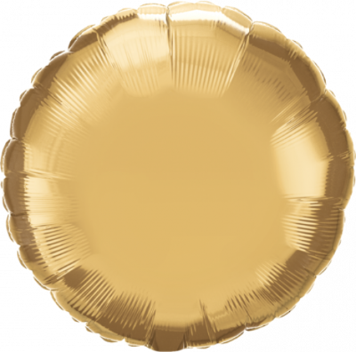 Chrome Gold Round Foil Balloon