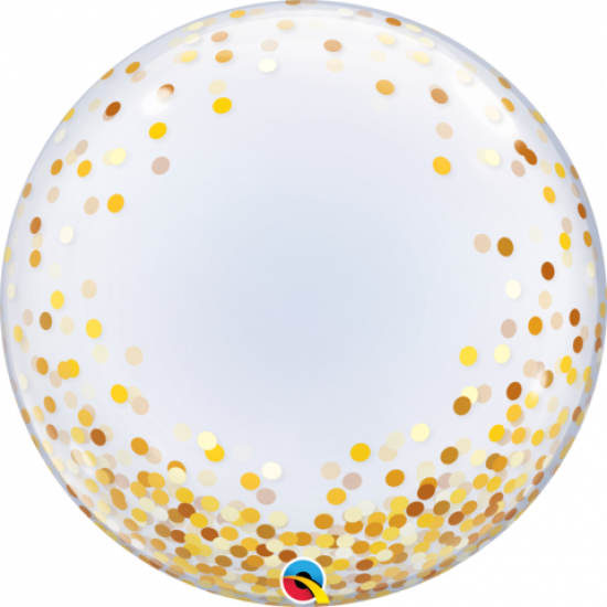 Gold Confetti Deco Bubble Balloon