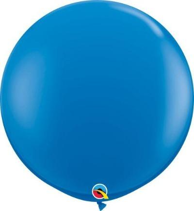 90cm Dark Blue Round Latex Balloon Qualatex