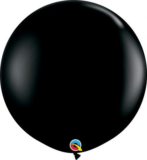 90cm Round Black Latex Balloon Qualatex
