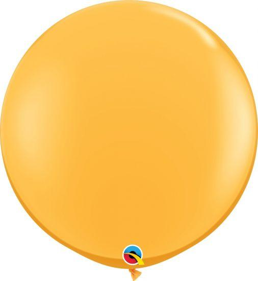 90cm Round Goldenrod Latex Balloon Qualatex