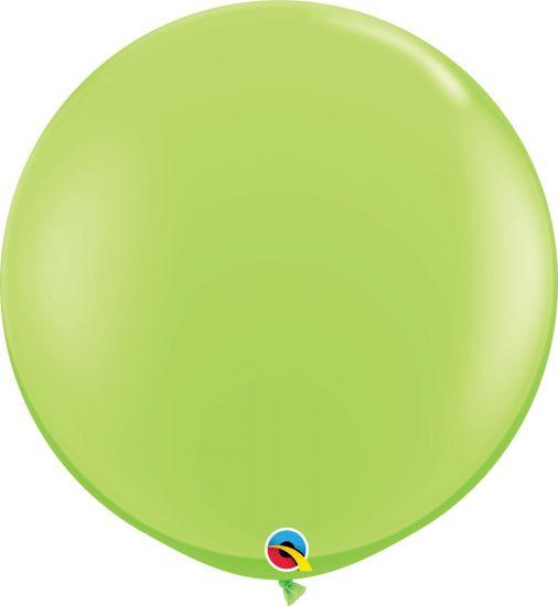 90cm Round Lime Green Latex Balloon Qualatex