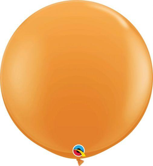 90cm Round Orange Latex Balloon Qualatex