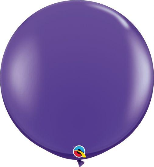 90cm Round Purple Latex Balloon Qualatex