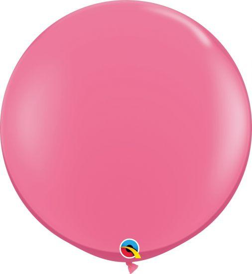 90cm Round Rose Pink Latex Balloon Qualatex