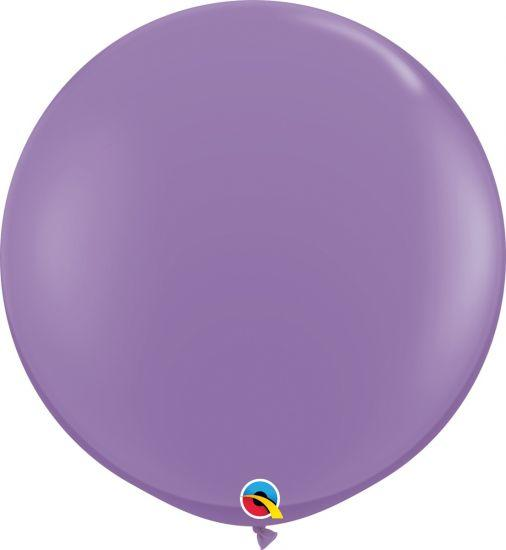 90cm Round Spring Lilac Latex Balloon Qualatex
