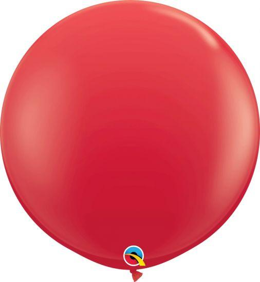 90cm Ruby Red Round Latex Balloon Qualatex